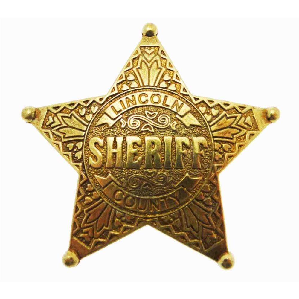 incisione Stella Grand County Sheriff Sceriffo in metallo oro