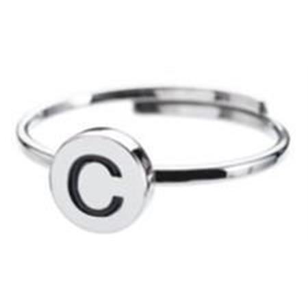 anello-acciaio-lettera-c