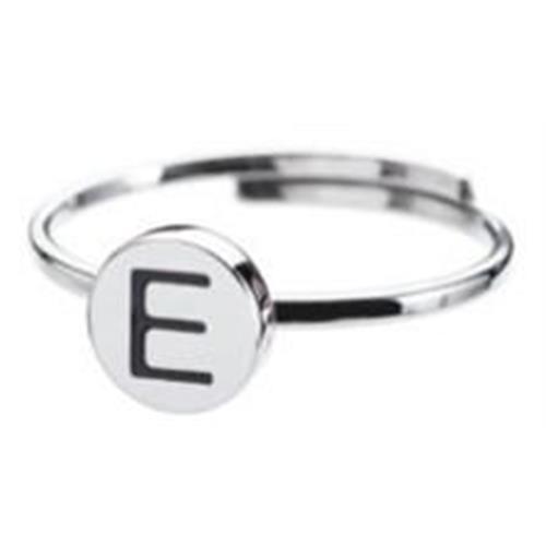 anello-acciaio-lettera-e