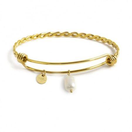 bracciale-bangle-torchon-perla-pendente-pvd-oro