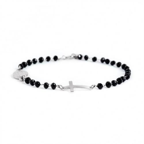 bracciale-rosario-cristalli-neri-acciaio