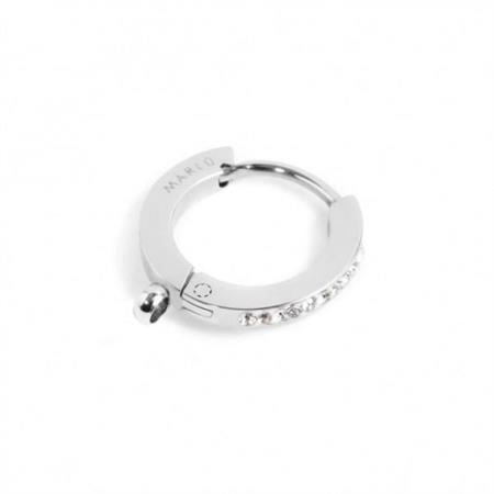 mono-orecchino-cerchio-acciaio-14mm-cristalli-bianchi