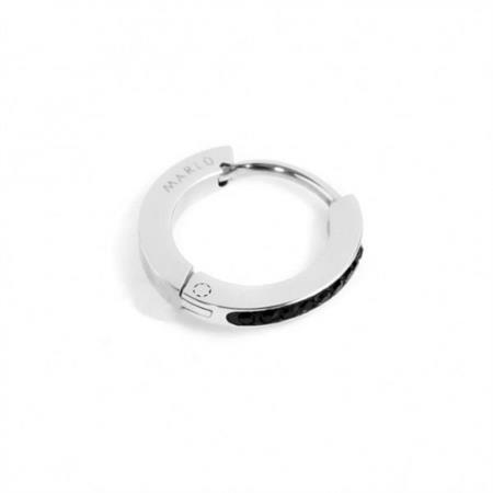 mono-orecchino-cerchio-acciaio-13mm-cristalli-neri