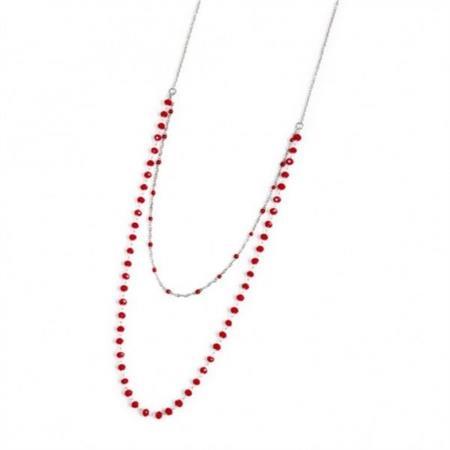 collana-acciaio-cristalli-rossi-3mm