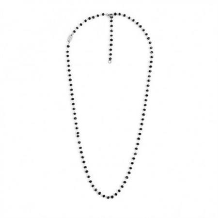 collana-acciaio-50cm-cristalli-neri-3mm