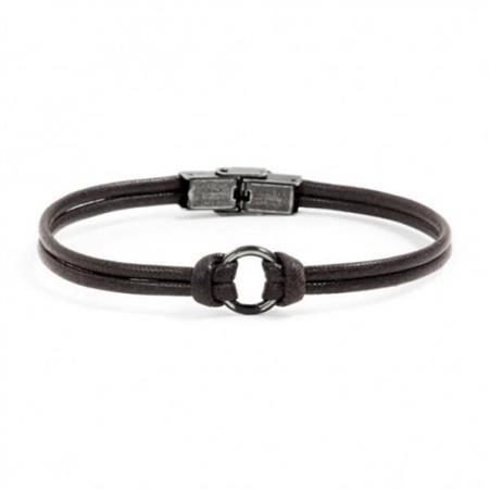 bracciale-corda-marrone-acciaio-brunito