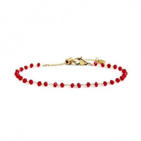 bracciale-oro-cristalli-rossi-3mm