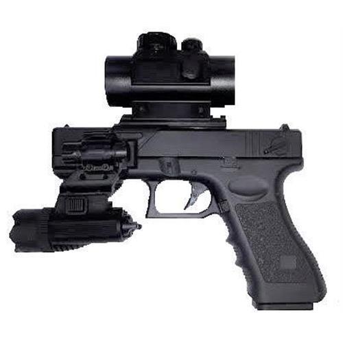 cyma-g18c-elettrica-gear-box-metal-con-red-dot-slitta-laser-e-torcia