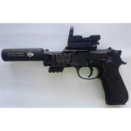 beretta-m92-a1-singolo-raffica-con-red-dot-slitta-e-silenziatore