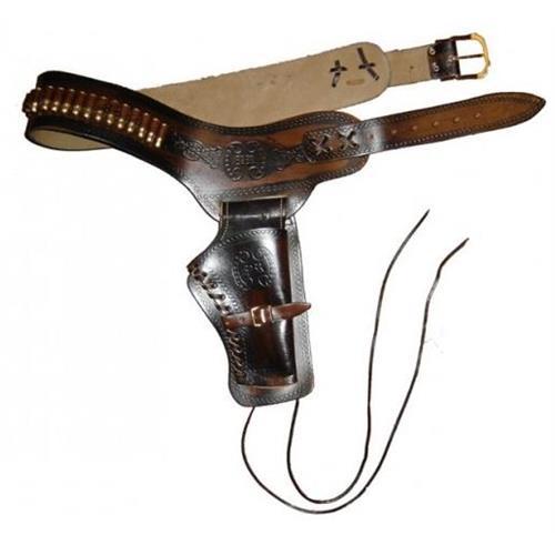 v-storm-cinturone-western-lavorato-marone-per-pistola