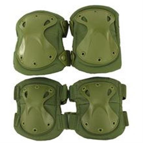 exagon-combat-wear-set-ginocchiere-gomitiere-defence-verdi