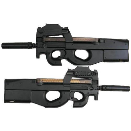 golden-bow-p90-up-grade-con-red-dot-integrato-e-silenziatore