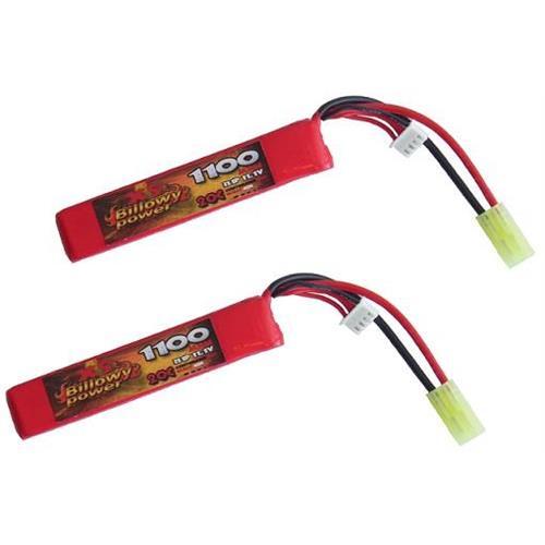 billowy-power-2pz-batteria-lipo-1100mah-11-1v-20c-compact-power-life