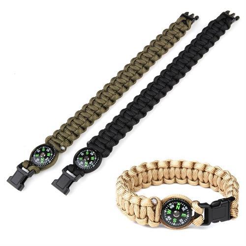 v-storm-bracciale-paracord-estendibile-verde-con-bussola-20cm