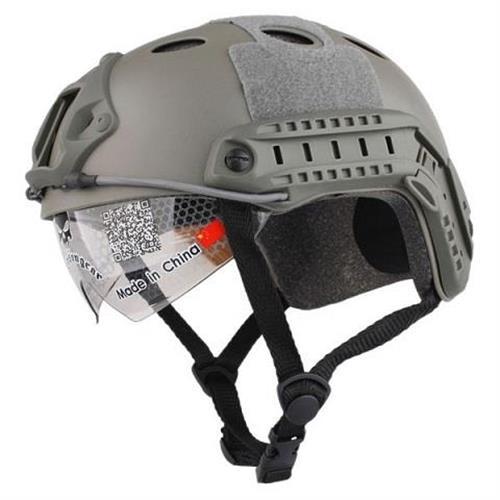 emerson-casco-tattico-fast-pj-verde-con-visiera