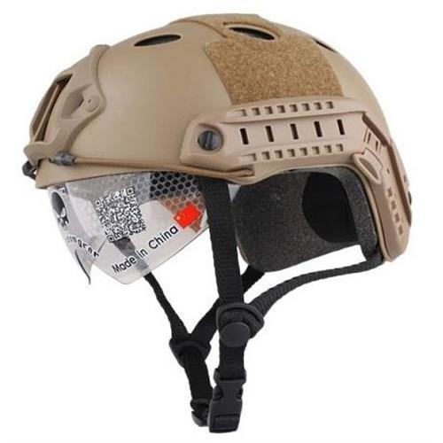 emerson-casco-tattico-fast-pj-tan-con-visiera