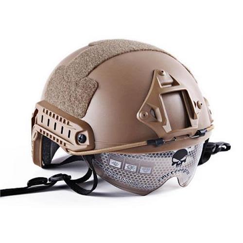 emerson-casco-tattico-fast-mh-tan-con-visiera