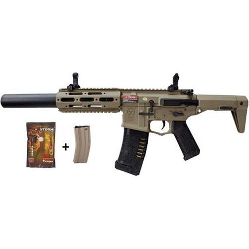 ares-m4-ris-honey-badger-assault-rifle-tan-con-pallini-e-caricatore