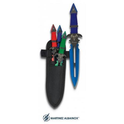 martinez-albainox-set-3-coltelli-da-lancio-war-dragon-con-fodero-lunghi-17cm