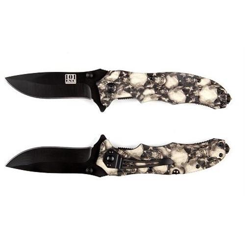 101-inc-coltello-serramanico-lama-brunita-da-8cm-con-teschi-bianco-grigi