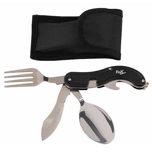mfh-multiuso-tascabile-con-forchetta-cucchiaio-manico-nero