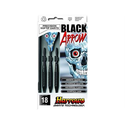 harrows-set-3-dardi-black-arrow-ebonite-brass-per-bersaglio-elettronico