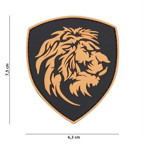patch-3d-in-pvc-con-velcro-leone-arancione
