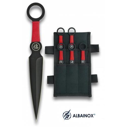 martinez-albainox-set-6-coltelli-da-lancio-kunai-con-fodero-lunghi-16cm