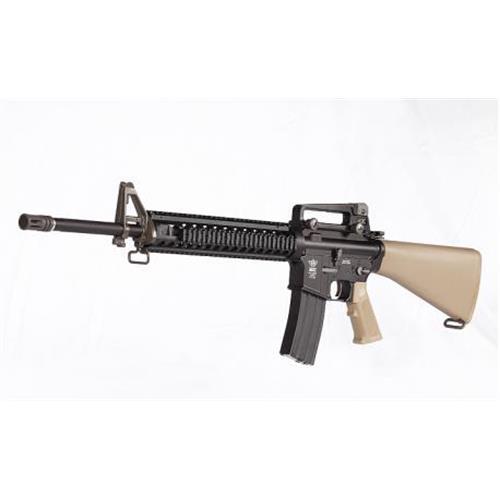 m16-a4-tan-full-metal-scarrellante-recoil-system