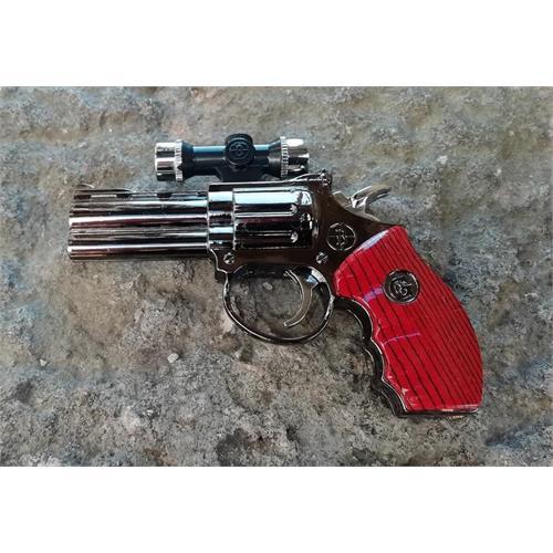 accendino-pistola-revolver-357-metal-ricaricabile-turbo-e-laser