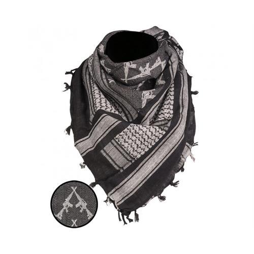 kefiah-nero-bianco-110-110cm-in-cotone