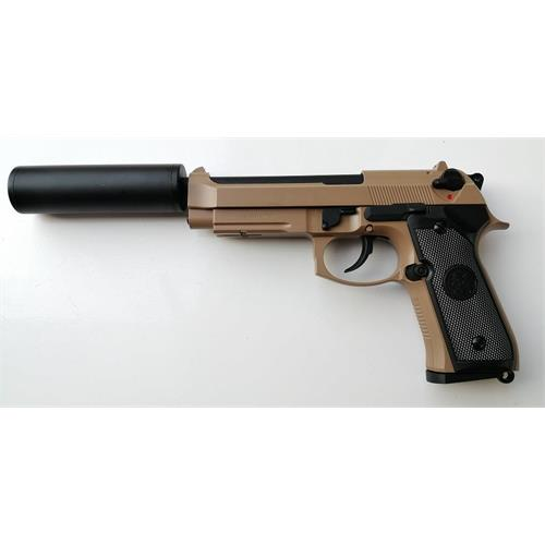 b92sf-elite-gas-scarrellante-full-metal-tan-con-silenziatore