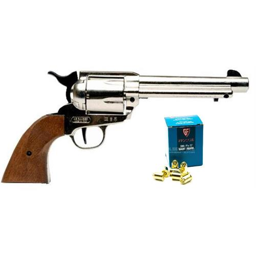 single-action-me-ranger-cal-380-chrome-blank-with-50-cartridges